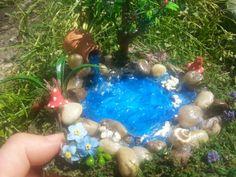 Fairy Garden Pond Fairy Pond Miniature Pond by DreamsTreasuress