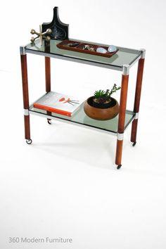 Mid Century Hall Table Console Shelving Sideboard Bar Vintage Retro Danish Eames 360 Modern Furniture