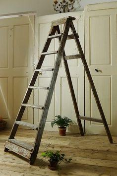 Old wood ladder