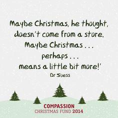 Compassion Christmas fund
