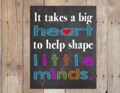 Teacher appreciation Gift  It takes a big by PinknPurplePress, $5.00 #teacherappreciationweek #teachergift
