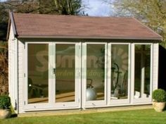 Apex Garden Office 405 - Painted, Double Glazed, Insulated