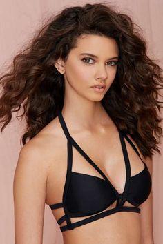 Nasty Gal In the Cage Halter Bikini Top - Bikinis | Swimwear | Mix + Match | Swim | All