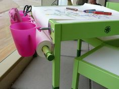 we take a look at 9 different IKEA hacks to help you pimp up the IKEA LATT children's table and chair set.Here we take a look at 9 different IKEA hacks to help you pimp up the IKEA LATT children's table and chair set. Decoration Creche, Diy Pour Enfants, Hacks Ikea, Kid Table, Ikea Kids Table And Chairs, Play Table, Kid Spaces, Kids Furniture, Furniture Buyers