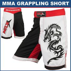 MRX MMA Shorts Grappling Short UFC Cage Fight Kick Boxing RWB | eBay