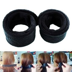 New Fashion Women Lady Black Hairagami Hair Bun Undo Snap Styling Tool Shaper For Girls