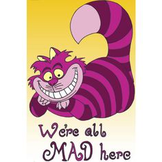 Cheshire Catâ The Cheshire Cat ❤ liked on Polyvore featuring alice and disney