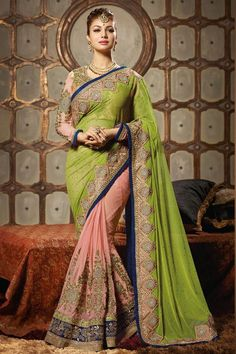 Designer Ayesha Takia Party Wear Embroidered Saree with blouse