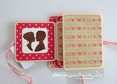 AnnasArt: romantisch verpackte Glückwünsche, mit Link zur Anleitung