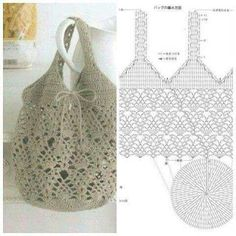 Amazing crochet bag with pattern rate it 1 to 10 10 is the best 💕💕 🌷get your free patterns by just clicking the link in the bio 👆 top – All Care Tİps Filet Crochet, Crochet Pouch, Crochet Shell Stitch, Crochet Diagram, Crochet Chart, Crochet Stitches, Knit Crochet, Flower Crochet, Crochet Bags