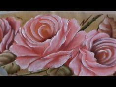 Dicas de pintura grátis - Pintando rosas em toalha de mão - 2 - YouTube