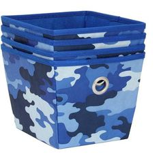 Mainstays Non-Woven Blue Camo Storage Bins, 4-Pack - $5.99! - http://www.pinchingyourpennies.com/mainstays-non-woven-blue-camo-storage-bins-4-pack-5-99/ #Storagebins, #Walmart