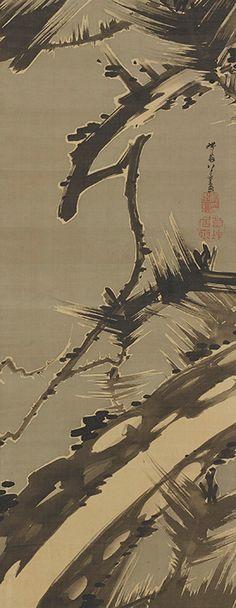 ITO Jakuchu (1716-1800), Japan 伊藤若冲「松図」