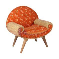 Jaipur Arm Chair in Vintage Kantha | dotandbo.com