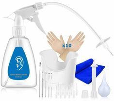Top 10 Best Ear Wax Removal Tools in 2020 Best Ear Wax Removal, Ear Wax Removal Tool, Cleaning Your Ears, Ear Cleaning, Water Solutions, Small Case, Spray Bottle, Basin, How To Remove