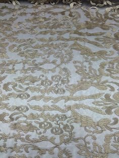 New Hollywood Damask 2 way stretch lace. And has a 3D look to make the damask pattern pop out. Can be used for Dresses, Costumes, Gowns, Dance ware, Accessories, Drapery, Lamp Shades, Head bands. The backing is composed of a see through lace. | eBay!