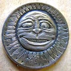 Jewelry and unusual carvings by Shamey Metalcraft Hobo Nickel, Coin Art, Copper Penny, Antique Coins, Effigy, Art Forms, Sculpture Art, Jewelry Collection, Carving