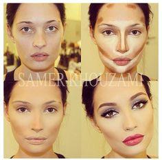 Face contouring : tutorial : make up