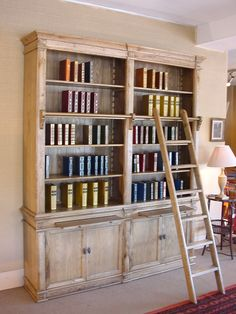Bibliothèque Anglaise en chêne ! reproduction d'un meuble ancien !