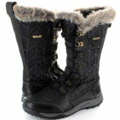 Teva Ladies Lanawee Waterproof Fur Lined Winter Walking Snow Boots Black,Brown: Amazon.co.uk: Shoes & Bags