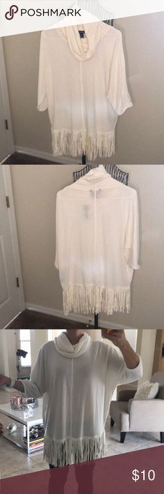 Off white fringe sweater New with tags terre bleue Sweaters