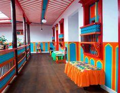Interior And Exterior, Interior Design, Colourful Buildings, Hostel, House Colors, Bungalow, Facade, Home Decor, Bedroom