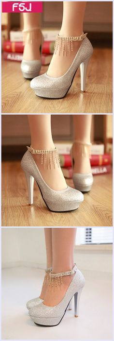 Women's Style Pumps Fall Fashion Outfits 2017 Women's Glitter Almond Toe Stiletto Heels Ankle Strap Pumps Women's Fall Fashion Wedding Dresses Shoes Mermaid Wedding Dress Heels Women's Chic Fashion Illustration For Prom| FSJ #womenshoesforfall2017