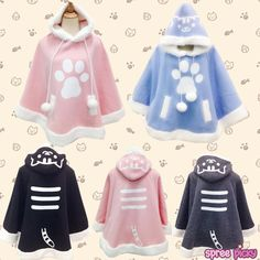 Kawaii Cat Hoodie Cloak Cape SP168284