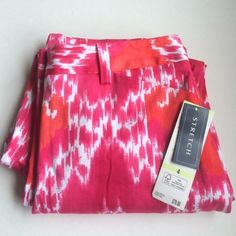 """Jones New York Printed Slacks NWT 