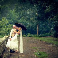 There's no such thing as bad weather.  Rainy wedding by ~Letyi on deviantART