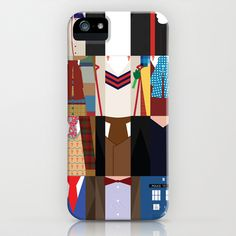 The Doctors - Doctor Who & TARDIS iPhone & iPod Case by Adrian Mentus - $35.00