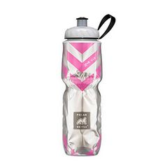 Polar Bottle Insulated Water Bottle (Chevron Pink) (24 oz) - 100% BPA-Free Water Bottle - Perfect Cycling or Sports Water Bottle - Dishwasher & Freezer Safe. For product & price info go to:  https://all4hiking.com/products/polar-bottle-insulated-water-bottle-chevron-pink-24-oz-100-bpa-free-water-bottle-perfect-cycling-or-sports-water-bottle-dishwasher-freezer-safe/