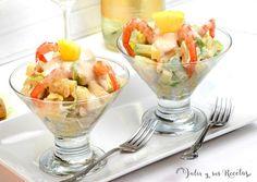 Chicken Salad Recipes, Recipe For 4, Sin Gluten, Street Food, Fruit Salad, Cantaloupe, Potato Salad, Salmon, Seafood