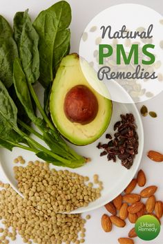 Use healing foods to treat cramps and PMS. Our tips plus a recipe for green juice will help you relieve PMS symptoms naturally.  Natural remedies | PMS and cramp treatments | Holistic remedies | Food as medicine