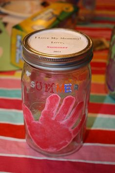 Grandparent's day craft.. Fill with treats or use as a vase