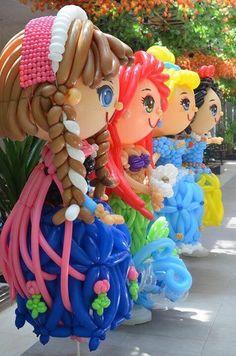 Princess Balloon Face, Love Balloon, Balloon Crafts, Balloon Decorations, Balloon Ideas, Princess Balloons, Qualatex Balloons, Balloon Pictures, Balloons And More