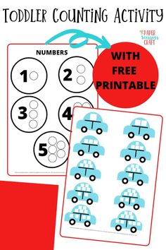 Toddler counting activity for preschoolers with free template that they can use to learn how to count in a fun way, preschool activities, toddler learning activities, teach your toddler to count, toddler craft, toddler activities, preschool counting activity, preschool counting craft Counting Activities For Preschoolers, Counting For Toddlers, Preschool Learning Activities, Free Preschool, Preschool Activities, Easy Toddler Crafts, Kids Crafts, Printables, Scissors