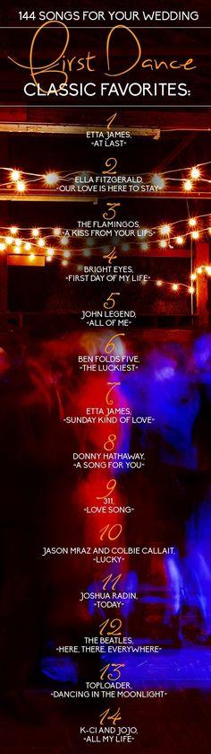 Classic First Dance Wedding Songs / http://www.deerpearlflowers.com/144-wedding-songs-for-every-part-of-your-wedding-day/   #Trending #weddingmusic #ceremonymusic #weddingdj #ceremonydj #mikebdjmc #mbeventdjs