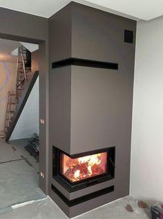 kominek nowoczesny nowoczesna obudowa kominkowa n106 House Design, Interior Design, Living Room With Fireplace, Modern Fireplace, Gas Stove Fireplace, House, Diy Fireplace, Home Fireplace, Fireplace Design