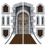 Castle Door and Window Props (9/pkg). Making Hogwarts.