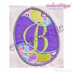 Monogram Sets - Easter Egg Applique Monogram 4x4 Hoop on sale now at Embroitique!