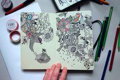 Sketchbook pages on Behance