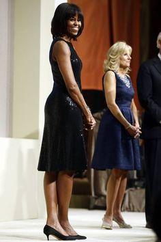 Michelle Obama com vestido Michael Kors na posse