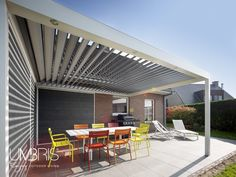 Create the ultimate bbq area and outside living space this summer with a contemporary louvre roof | Call Umbris to find out more 01494 722 880