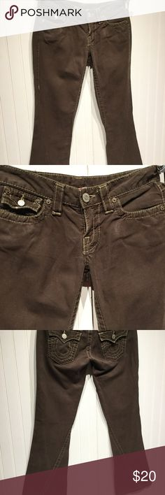 True Religion True Religion Brown Joey size 26, some wear, but good condition!  Inseam appx. 31. True Religion Pants