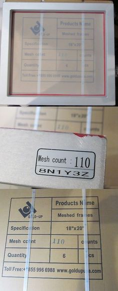 68b68add3 Screen Printing Frames 183114: 6-Pack Gold-Up 20 X 18 T-Shirt Screen  Printing Frames Aluminum 110 Mesh Count -> BUY IT NOW ONLY: $88.45 on #eBay  #screen ...