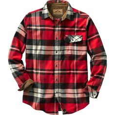 Legendary Whitetails Buck Camp Flannels ($20) ❤ liked on Polyvore featuring tops