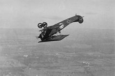 German Fokker Airplane loops in stunt