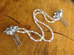 Bespoke handcrafted Swarovski crystal, rhinestone and freshwater pearl hair drape comb by Lilly Dilly's, versatile piece that can be worn with many hairstyles Dilly's Crystal Rhinestone, Swarovski Crystals, Pearl Hair, Hair Pieces, Bridal Hair, Bespoke, Tassel Necklace, Hairstyles, Pearls
