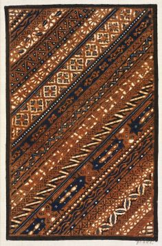 Batik sample Indonesian (Javanese), Dutch colonial rule, late 19th century Textiles, Textile Prints, Shibori, Batik Kebaya, Batik Art, Batik Pattern, Dutch Colonial, Ethnic Design, Javanese